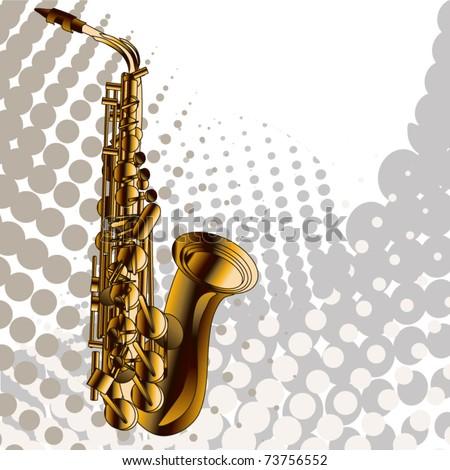 Musical jazz - stock vector