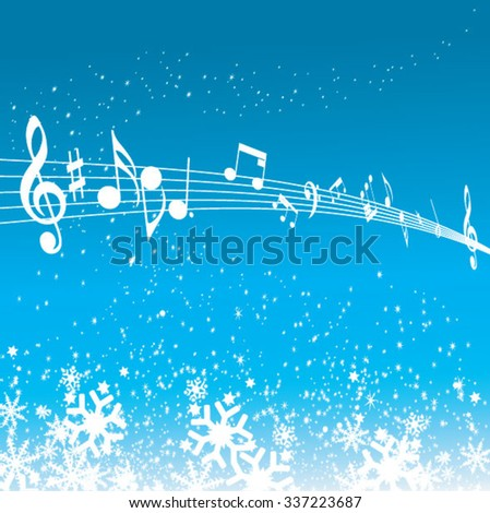 Musical Key with notes row - stock vector
