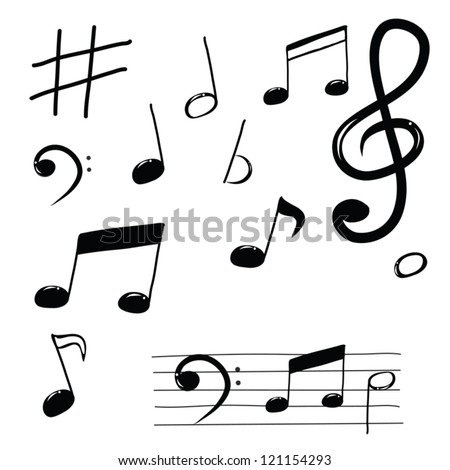 how to draw those musical notes