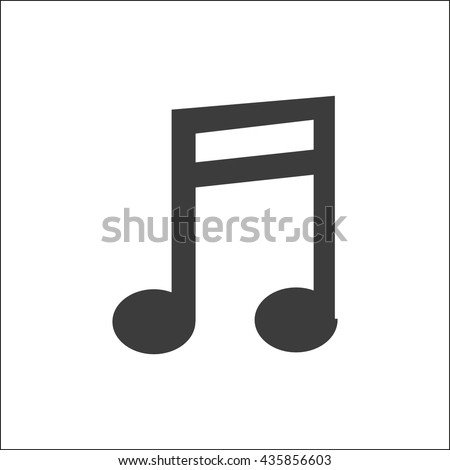 Musical note icon. Musical note Vector isolated on white background. Flat vector illustration in black. EPS 10 - stock vector