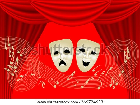 musical theater.  - stock vector