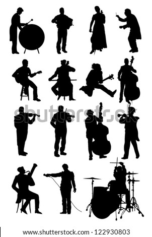 Musicians - stock vector