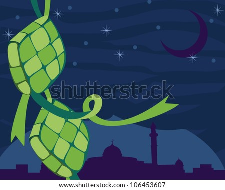 Muslim celebration - Hari Raya - stock vector