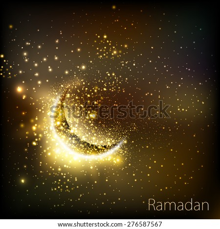 Muslim community golden cover of ramadan, easy editable - stock vector