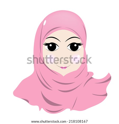 muslim girl - stock vector