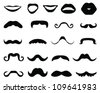 Mustaches and mouth-vector - stock vector