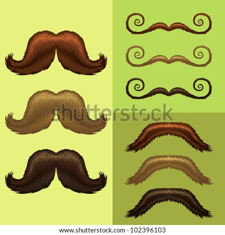mustaches-part 3 - stock vector