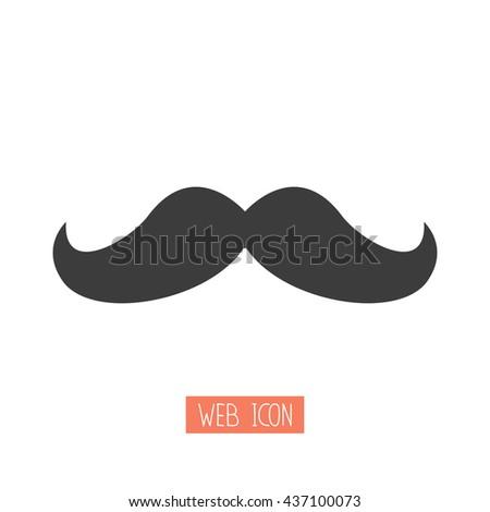 mustaches - vector icon - stock vector