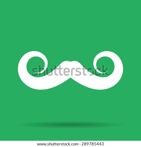 mustaches vector icon, Vector flat Illustration EPS - stock vector