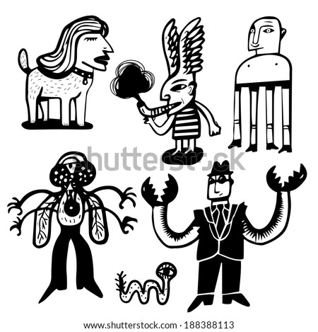 Mutant set - stock vector