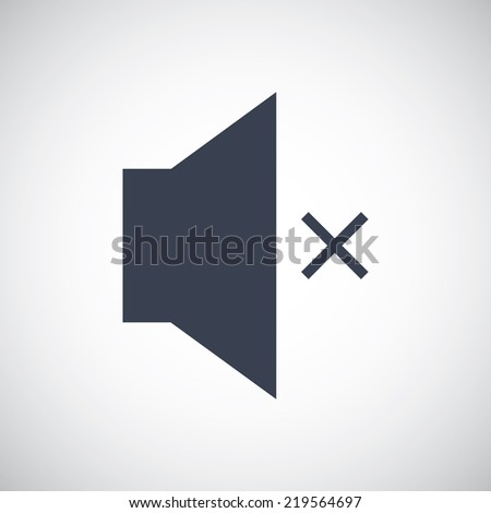 Mute Speaker Volume Sound symbol icon. Vector pictogram. Simple flat metro design style. esp10 - stock vector