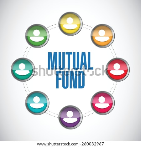 mutual fund people diagram illustration design over a white background - stock vector