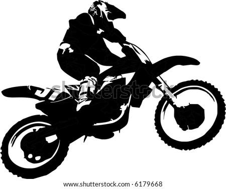 mx rider - stock vector