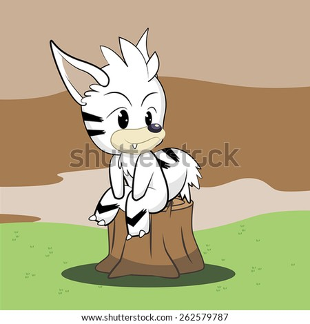 Mythical Creature Vector Illustration - stock vector