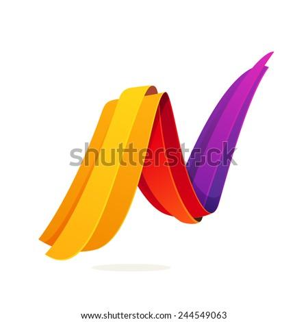 N letter logo, volume icon - stock vector