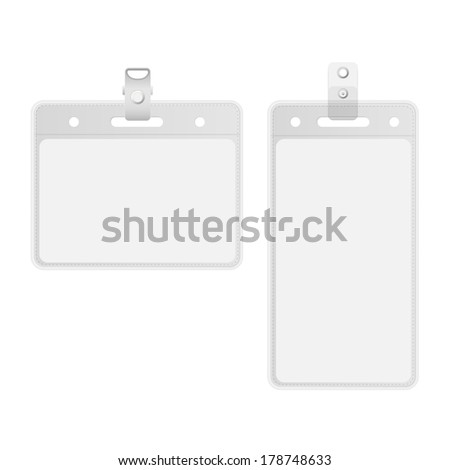 Name tag holder and badge templates vector  - stock vector