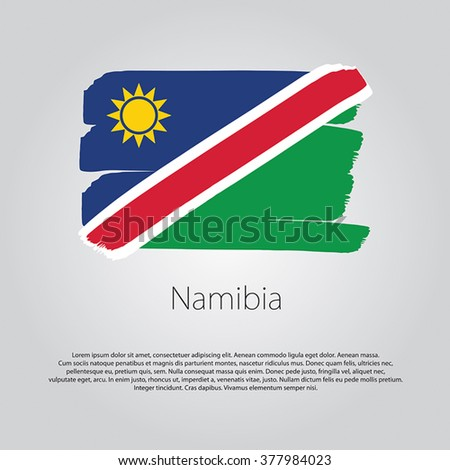 Namibia Flag with colored hand drawn lines in Vector Format - stock vector