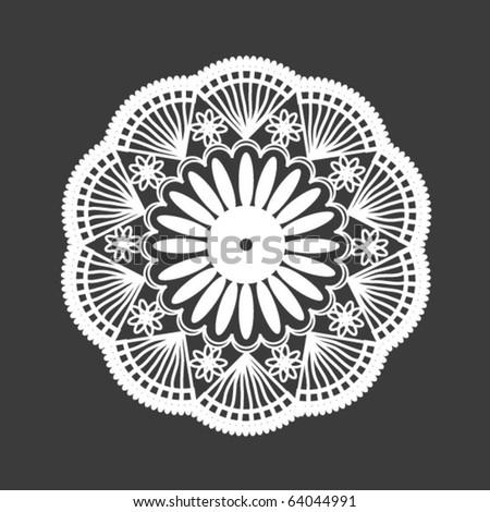 napkin lace - stock vector