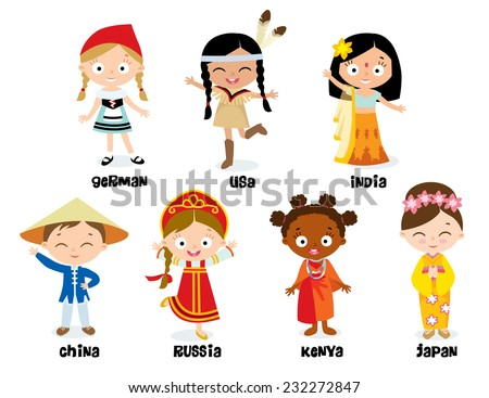 national costumes  - stock vector