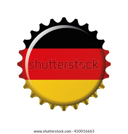 National flag of Germany on a bottle cap. Vector Illustration - stock vector
