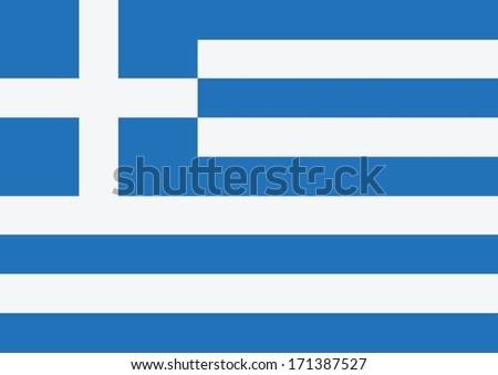 National flag of Greece  themes idea design - stock vector