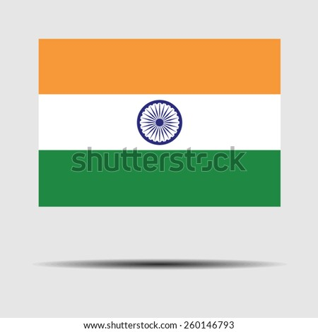 National flag of India - stock vector