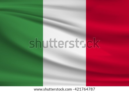 National flag of Italy - stock vector