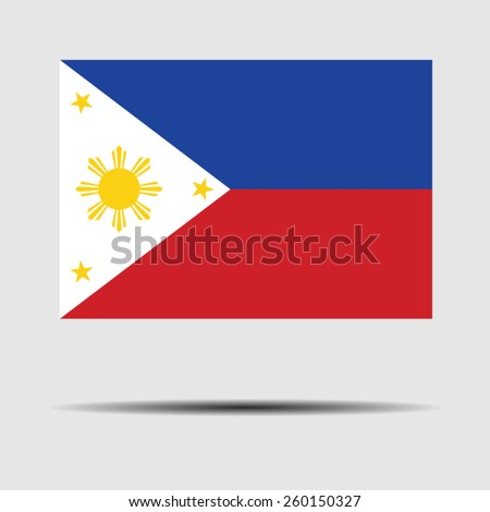 National flag of Philippines - stock vector