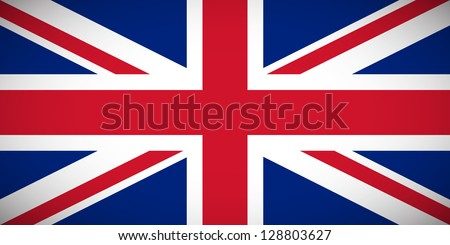 National flag of the United Kingdom of Great Britain and Northern Ireland with correct proportions and color scheme - stock vector