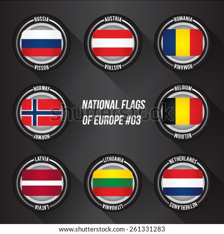 National Flags Of Europe : Vector Set 03 - stock vector