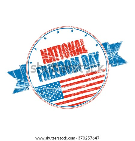 National Freedom Day grunge rubber stamp - stock vector