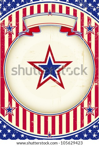 National poster of US. A patriotic background for you - stock vector