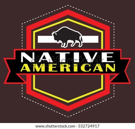 native american - stock vector