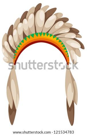 native american headdress vector - stock vector