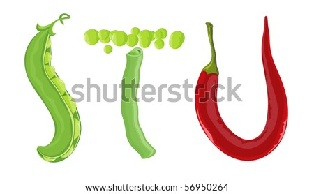 Natural ABC. Vector. - stock vector