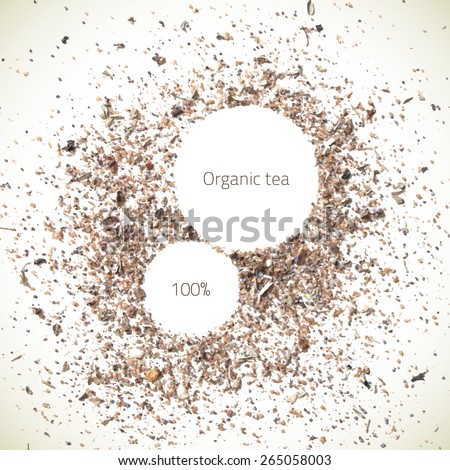 Natural abstract texture. Vector design elements. Organic frame background. Food texture. Spices background. - stock vector