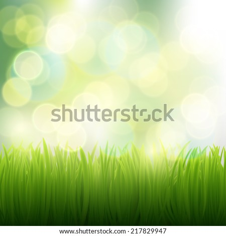 natural background of grass - stock vector