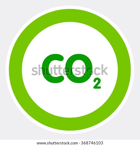 Natural CO2 background,carbon footprint - stock vector
