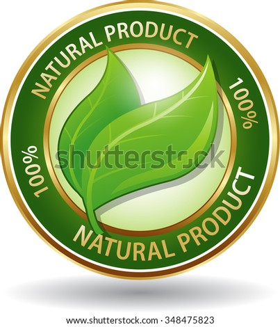 Natural product symbol eco friendly website icon - stock vector