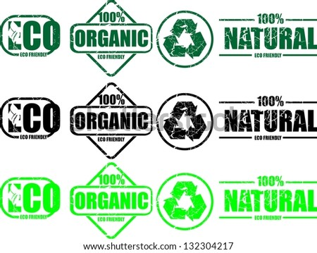 Natural, stamp - stock vector