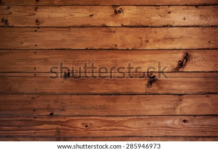 natural wooden background, vector - stock vector