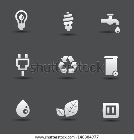 Nature and energy icons,vector - stock vector