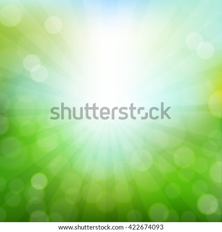 Nature Bokeh Background, With Gradient Mesh, Vector Illustration - stock vector