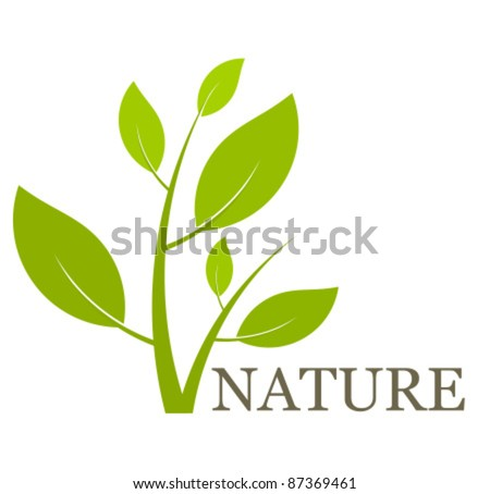 Nature concept green plant. Vector illustration - stock vector