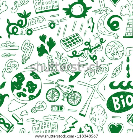 nature energy , ecology - seamless background - stock vector