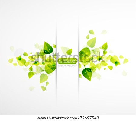 Nature horizontal background - stock vector