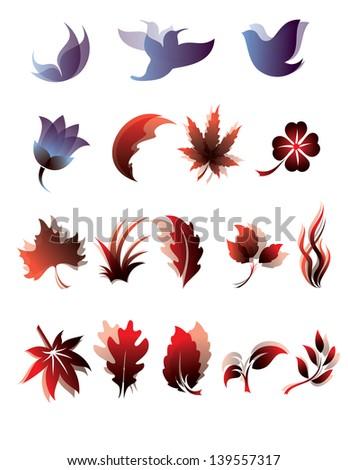 Nature icon set. - stock vector