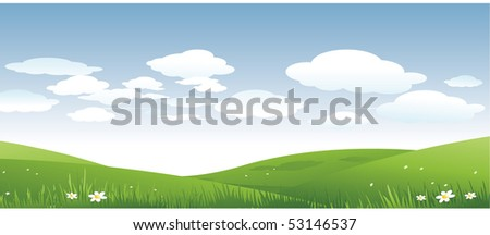 Nature landscape - stock vector