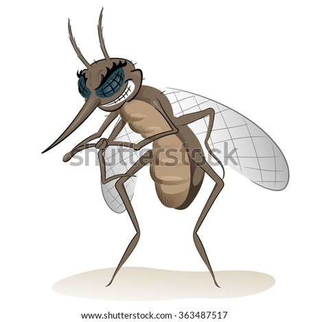 Nature, mosquitoes stilt disease transmitter. Ideal for informational and institutional sanitation and related care - stock vector