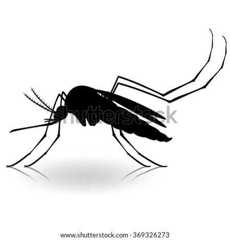 Nature, silhouette mosquitoes stilt. Ideal for informational and institutional related sanitation and care - stock vector